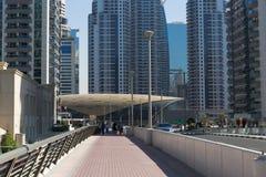 Moderne gebouwen in de Jachthaven van Doubai Royalty-vrije Stock Foto