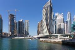 Moderne gebouwen in de Jachthaven van Doubai Stock Fotografie