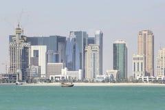 Moderne gebouwen in Doha Stock Foto