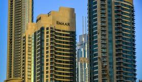 Moderne gebouwen in Doubai, de V.A.E stock afbeeldingen