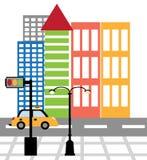 Moderne Gebouwen en het Stadsleven vector illustratie