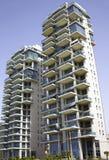 Moderne gebouwen in knuppel-Yam Stock Afbeelding