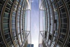 Moderne Gebouwen in München, Duitsland Bedrijfs concept Stock Foto's