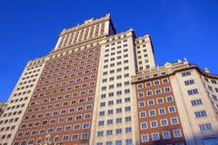 Moderne gebouwen in Madrid, Spanje royalty-vrije stock foto's