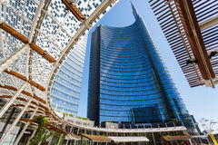 Moderne gebouwen in Milaan Stock Foto