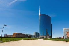 Moderne gebouwen in Milaan Royalty-vrije Stock Afbeeldingen