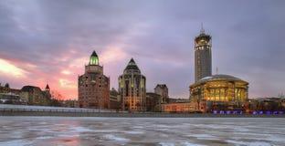 Moderne gebouwen in Moskou stock foto's