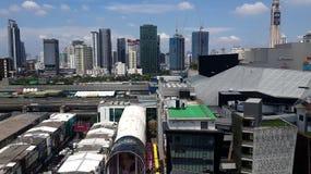 Moderne gebouwen risein Ratchathewi stock fotografie