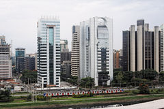 Moderne Gebouwen Sao Paulo Stock Afbeelding
