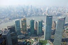 Moderne gebouwen in Shanghai Royalty-vrije Stock Afbeeldingen