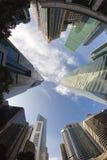 Moderne Gebouwen in Singapore, Bedrijfsconcept Royalty-vrije Stock Foto's