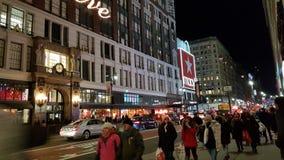 Moderne gebouwen van Timesquare de koude New York stock afbeelding
