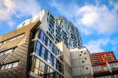Moderne gebouwen van van het commerciële de moderne architectuur centrumclose-up Stock Foto's