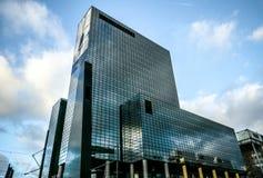 Moderne gebouwen van van het commerciële de moderne architectuur centrumclose-up Royalty-vrije Stock Fotografie
