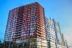 Moderne gebouwen van van het commerciële de moderne architectuur centrumclose-up Stock Fotografie