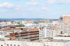 Moderne gebouwen in woonwijk van grote stad Stock Fotografie