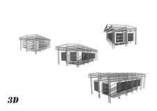 Moderne gebouwenarchitectuur Stock Afbeeldingen