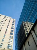 Moderne Gebouwenarchitectuur in Cardiff, Wales, het UK stock foto