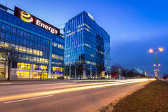 Moderne gebouwenarchitectuur van Olivia Business Centre in Gdansk Stock Fotografie