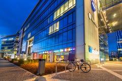 Moderne gebouwenarchitectuur van Olivia Business Centre in Gdansk Stock Foto's