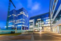 Moderne gebouwenarchitectuur van Olivia Business Centre in Gdansk Royalty-vrije Stock Afbeelding