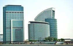 Moderne gebouwencollage stock afbeelding