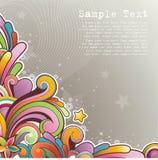Moderne gekleurde achtergrond Stock Foto's