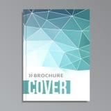 Moderne geometrische Abdeckung Schablone, polygonales Design, stock abbildung