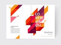 Moderne geometrische abstracte achtergrond Royalty-vrije Illustratie