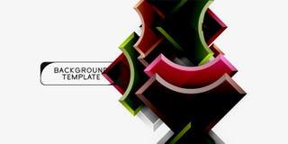 Moderne geometrische abstracte achtergrond stock afbeelding