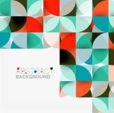 Moderne geometrische abstracte cirkels als achtergrond Royalty-vrije Stock Foto's