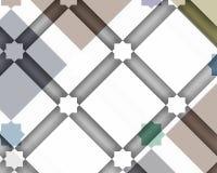 Moderne geometrische en Arabische decoratieve samenstelling met wit stock illustratie