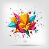 Moderne geometrische gevormde artistieke vlekken driehoeken, gebouwde lijnen Royalty-vrije Stock Fotografie