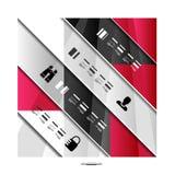 Moderne geometrische infographic Fahnenschablone Stockfotografie