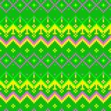 Moderne geometrische nahtlose Musterverzierung des Pixels Stockbilder