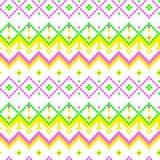 Moderne geometrische nahtlose Musterverzierung des Pixels Stockfotos