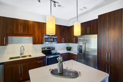 Moderne Geremodelleerde Keuken Royalty-vrije Stock Afbeeldingen