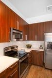 Moderne Geremodelleerde Keuken Stock Foto