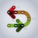 Moderne Geschäft Infographic-Schablone - abstrakte Pfeil-Formen Stockbild