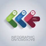 Moderne Geschäft Infographic-Schablone - abstrakte Pfeil-Formen Stockfotos