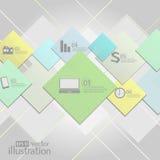 Moderne Geschäft Infographics-Designschablone dose Stockfotos