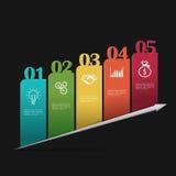 Moderne Geschäft infographics Schablone Lizenzfreie Stockfotos