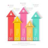 Moderne Geschäft infographics Zusammenfassungspfeile Auch im corel abgehobenen Betrag Lizenzfreie Stockfotos