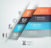 Moderne Geschäft steb Origami-Artfahne. Lizenzfreies Stockfoto