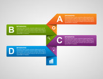 Moderne Geschäftsdiagramm- und -diagrammwahlfahne für infographics oder Darstellungen Lizenzfreies Stockfoto