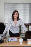 Moderne Geschäftsfrau im Büro Stockbild