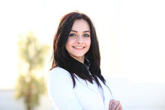 Moderne Geschäftsfrau im Büro Lizenzfreies Stockfoto