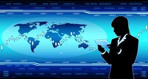 Moderne Geschäftsfrau mit Tablet-PC Lizenzfreies Stockfoto