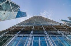 Moderne Geschäftsgebäudemitte in Hong Kong Lizenzfreie Stockfotografie