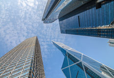 Moderne Geschäftsgebäudemitte in Hong Kong Stockfotografie